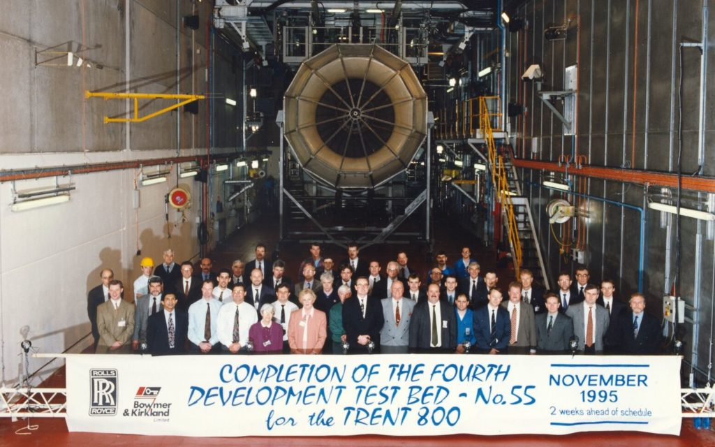 Celebrating completed testing of Trent 800