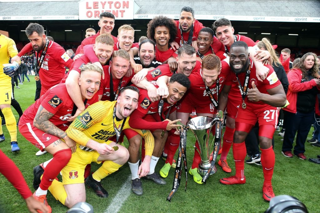 Leyton Orient Celebrate Promotion
