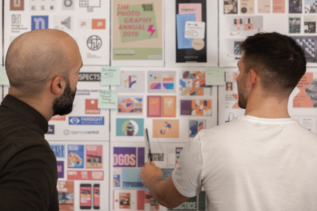 Designers working at full-service agency