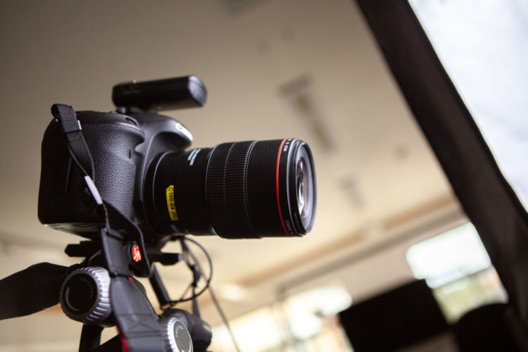 Camera during an eCommerce Photography shoot
