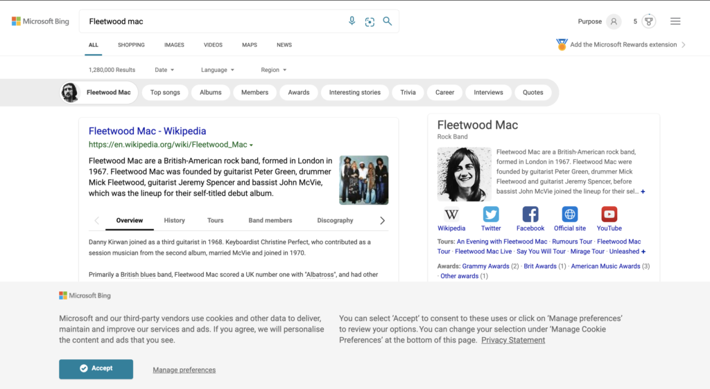 Microsoft Bing Search