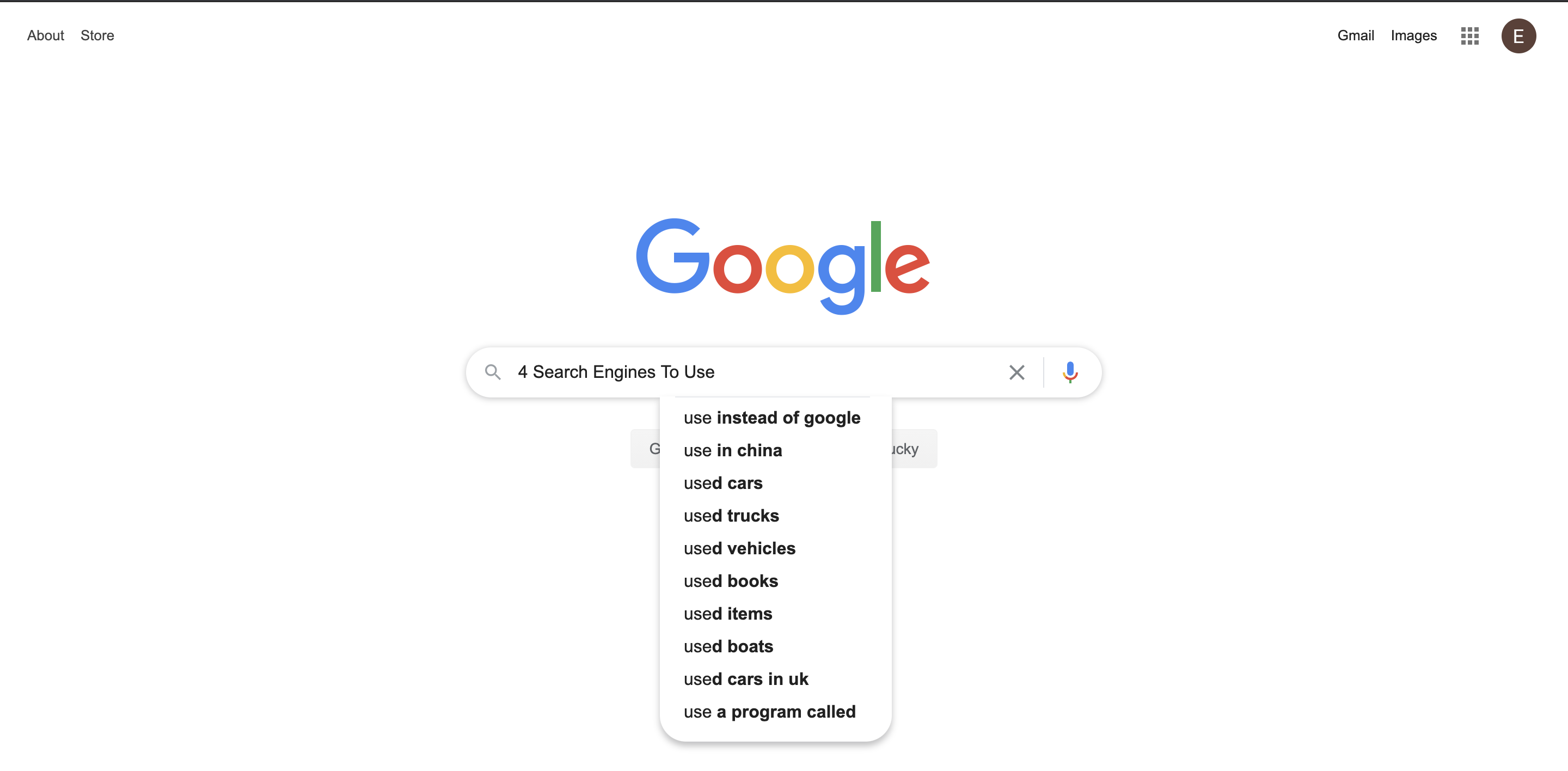 Google Search Engine Search