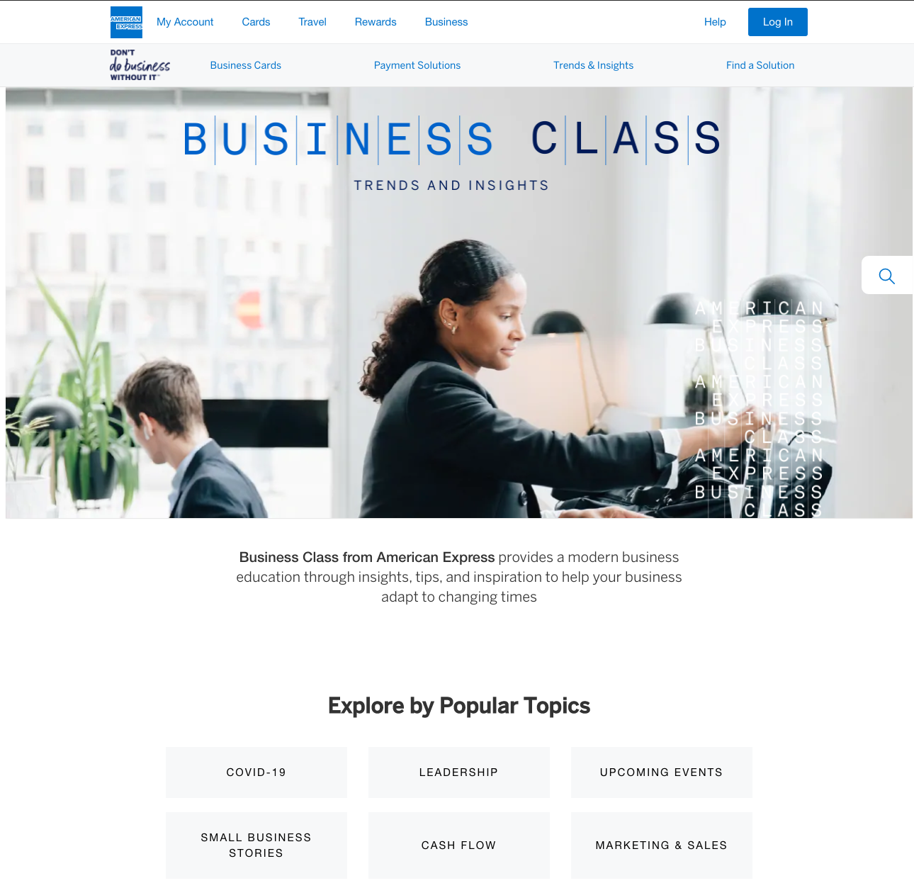 Business Class Content Hub for AIDA Model